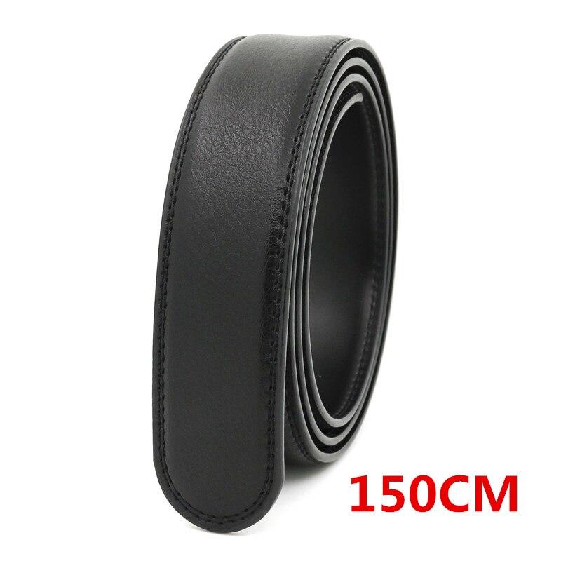 LannyQveen Longer Belt Strap 150CM Men Automatic Buckle Belts Without Buckles Leather Belt Wholesale Free Shipping