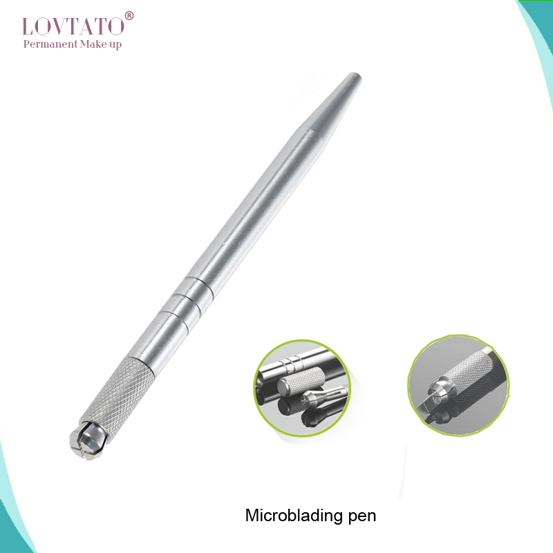 Dia 0.2mm 18-pin U Shape Tattoo Eyebrow Needle Manual Needle Blade 3D Embroidery 100pcs Black Microblading blades 10