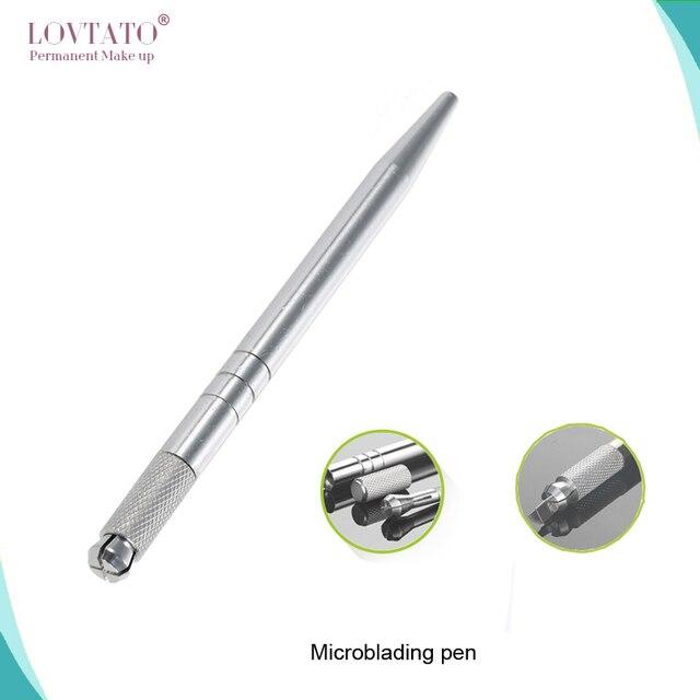 Руководство ручка татуировки перманентный макияж машина Microblading ручка для губ татуировки и бровей татуировки Tebori Ручка с 2 шт. иглы лезвие