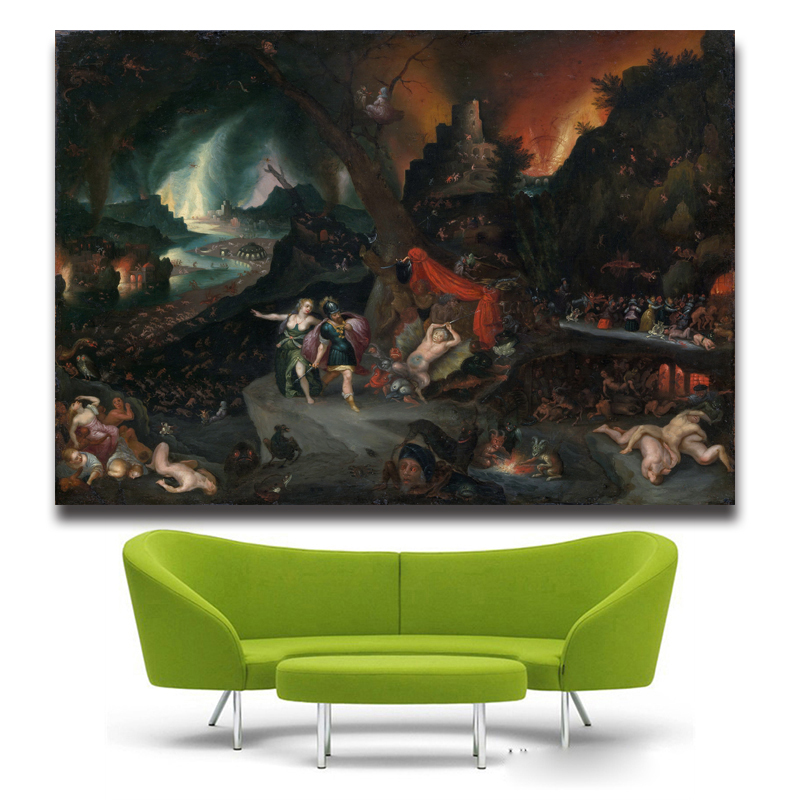 Artwork Portrait Painting The Garden Of Earthly Delights Hieronymus Bosch Silk Poster Decor Free