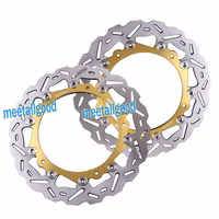 2PCS Motorcycle Front Brake Discs Rotor For BMW S1000RR 2009 2010 2011 2012 2013 2014
