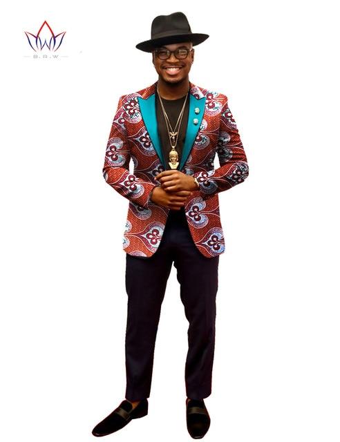 2017 Spring Пиджаки Мужчины Blazer Костюм Homme Африка Базен Riche 6XL Мужская Одежда Vestidos Formales Бесплатная Доставка BRW WYN202