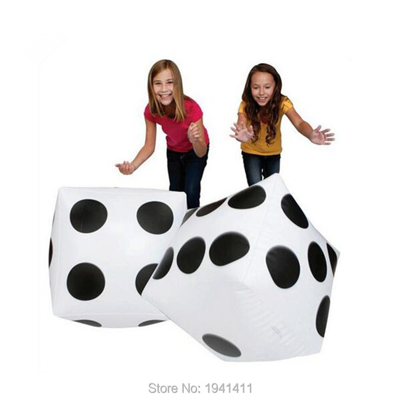 2pcs lot Children s inflatable plastic toys parent child interaction dice creative gifts toys