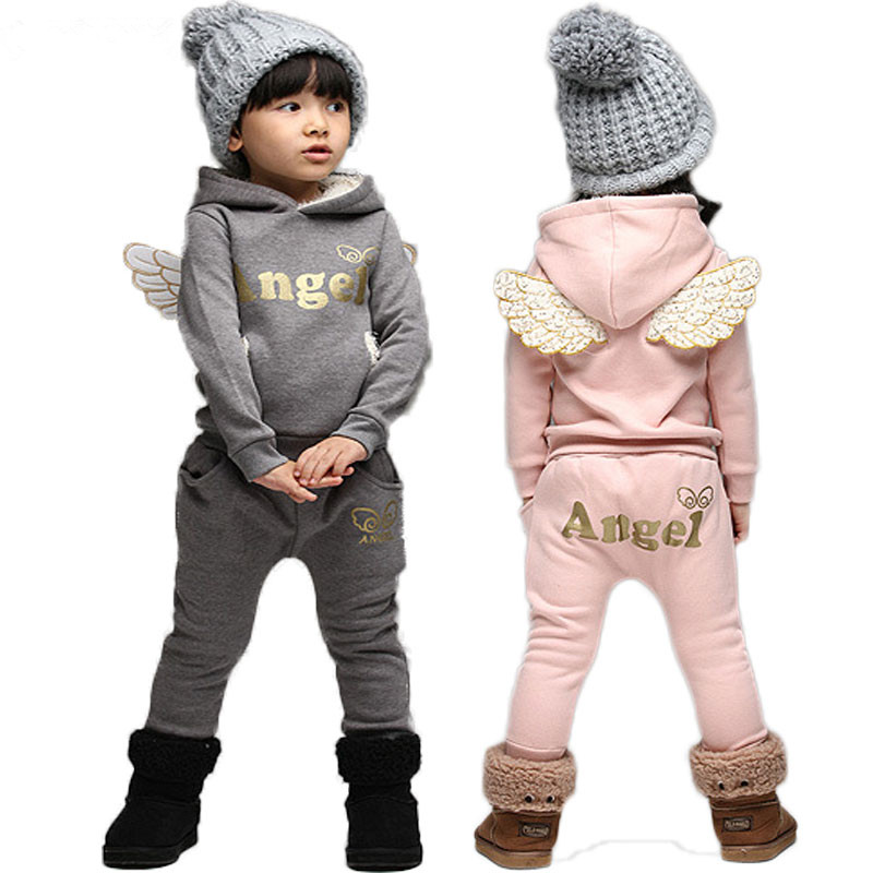 Children Clothing Set Sports Suit For Boys Winter Toddler Clothes Suits Baby Girls Wings Kids Tracksuit  School Girl Costume