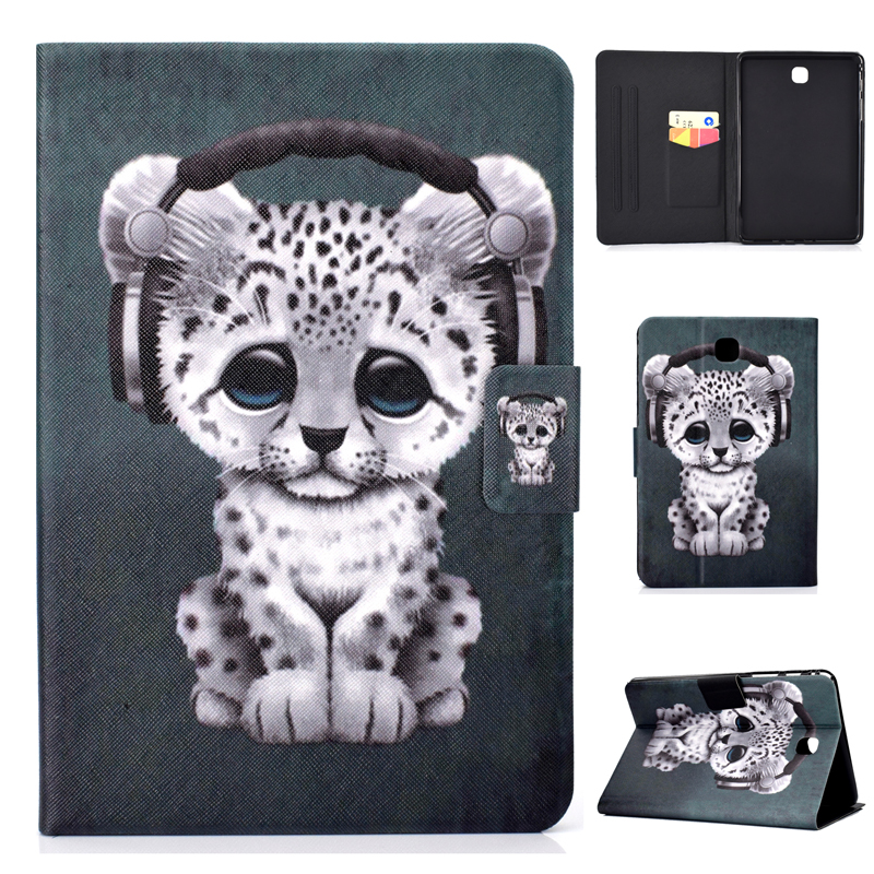Soft TPU Case For GALAXY Tab A 8.0 T350 P355 PU Leather Stand Cover For Samsung Taba 8 T355 8.0