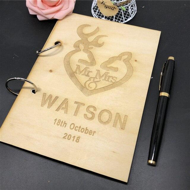 Rustic Wedding Guest Book Alternative Custom guest book Rustic