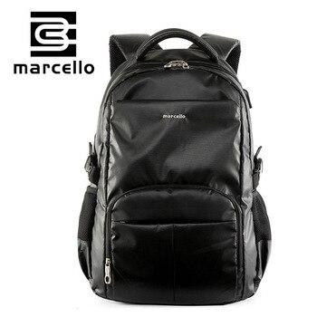 Marcelloブランドバックパックbagpack 15.6インチラップトップバックパックバッグ用男性女性ファッションバックパックスクールバッグmochilaラップトップバッグ