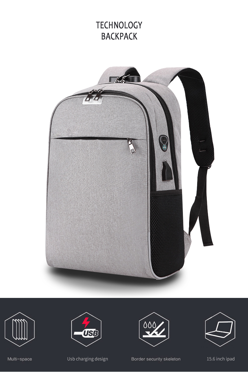 Usb Charging Mens 15.6 Inch Laptop Backpack Waterproof Business Male Travel Mochila College Students Schoolbag Ipad Bags Luggage & Bags