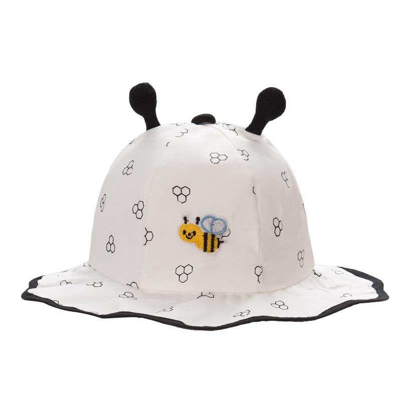 de8ef7dc436 Cute Summer Baby Hat Cotton Panama Baby Hat Wide Brim Sun Cap For Boys  Girls Cartoon Print Toddler Hat Baby Girls Clothing 2018