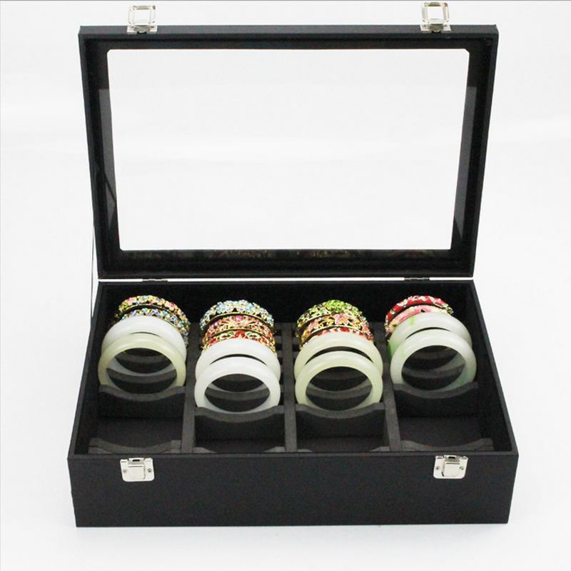 Us 53 23 Bracelet Storage Box Hand Jade Receive Show Gold And Silver Jewelry Gl With Cover In Bo Bins From