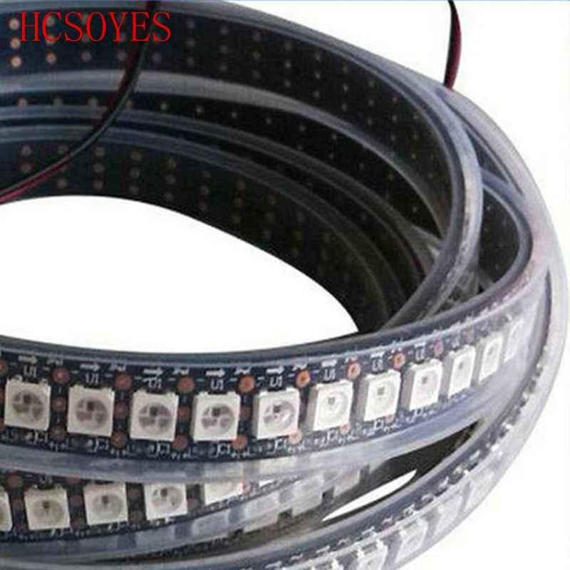 DC5V синхро-адаптер длиной 1 м/рулон WS2812B Светодиодная лента RGB 30/60/144 led/M пикселей водонепроницаемый 5050 SMD цифровой программируемый встроенный ws2811 IC