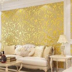 Papel pintado beibehang de piel de ciervo, Papel tapiz de hoja europea de lujo para paredes, Papel tapiz no tejido 3 d, rollo de Papel tapiz 3D