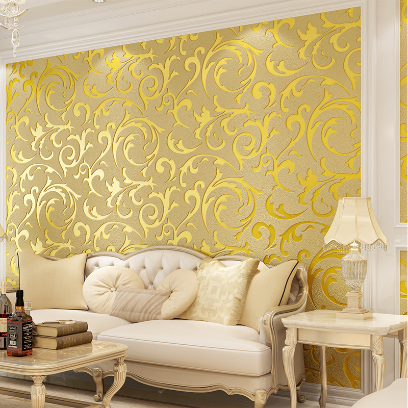 beibehang deerskin Luxury European Leaf wallpaper for walls 3 d Non-woven Papel Parede Mural Wallpapers Roll 3D Wall Paper roll beibehang papel parede 3d romantic dandelion wedding decorative wallpaper non woven floral 3d wallpapers mural wall paper roll