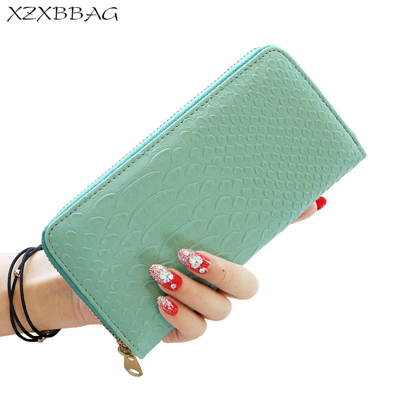XZXBBAG Women Fashion PU Leather Wallet Multi Function Bag Casual Hand Bag Lady Zipper Money Bag Female Coin Packet Card Pouch