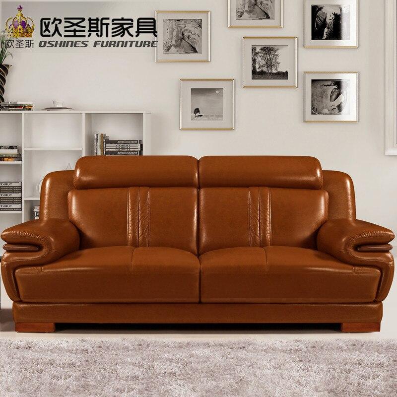 Galleria fotografica brown livingroom furniture <font><b>sofa</b></font> set designs modern cheap leather <font><b>sofa</b></font> set with wood legs decoration 639A