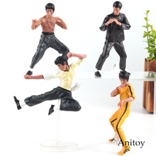 Free Shipping Cool Bruce Lee Kung Fu PVC Action Figures Collection Toys 4pcs/set New in Box OTFG070