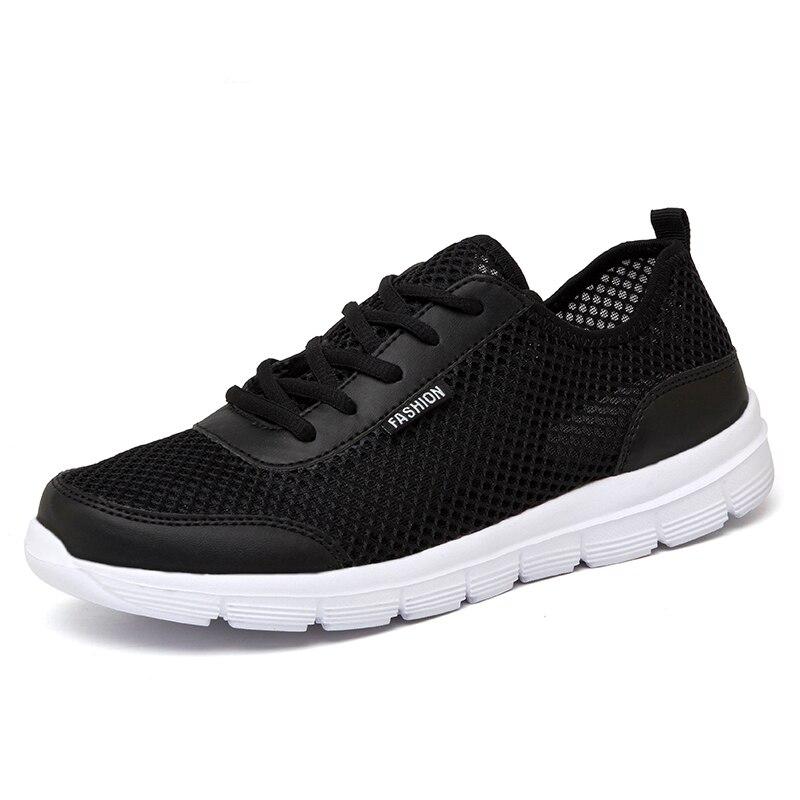 A Mens Shoes Casual Shoes Men Sneakers 2019 Trainers Men Shoe Summer Breathable Women Tenis Sports Hot Sale for Male Black Shoes