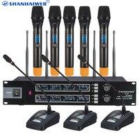 Профессиональный UHF Беспроводной караоке микрофон с ручной конференции Mic для выбора клиента Высокая чувствительность КТВ пение mic