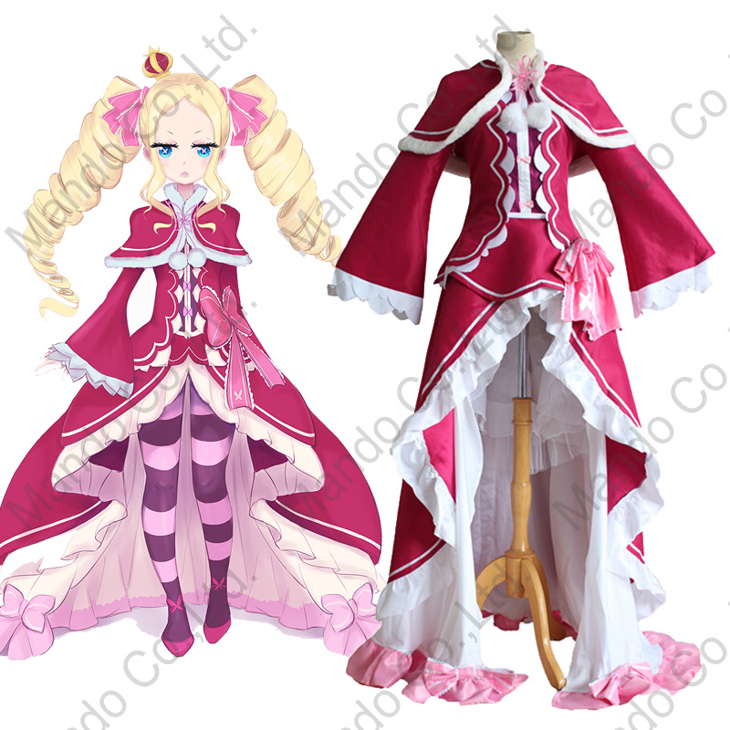 Anime Re:Life in a different world from zero Beatrice Cosplay Costumes Girls Lolita Uniform Dress Women Halloween Cosplay outfit