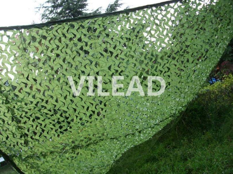 VILEAD 2M * 3.5M Filet Camo Netting Vihreä digitaalinen naamiointi - Leirintä ja vaellus
