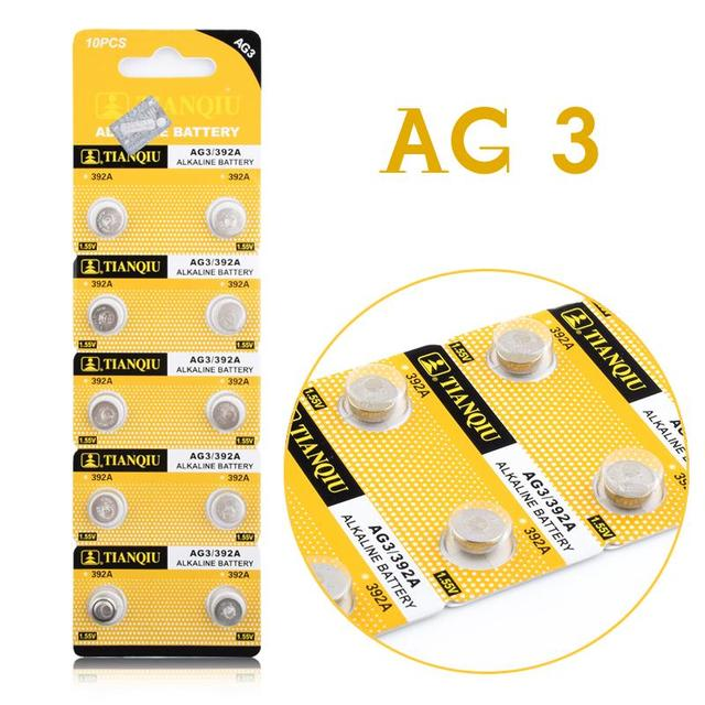 20pcs AG3 LR41 384 392 SR41W SR41 Alkaline Button Batteries