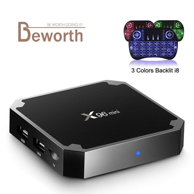X96 Mini Android 7.1 TV BOX 2GB 16GB Amlogic S905W Quad Core 2.4GHz WiFi Media Player IPTV Smart Set-top Box 1GB 8GB X96mini 1pcs lot ad7747aruz 100