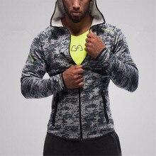 Мужские Худи Лидер продаж 2017 Фитнес бренд с длинным рукавом Bodybulding Акула Кофты на молнии тренажерные залы облегающая одежда куртка с капюшоном