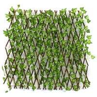New Lengthen Garden Buildings Fence Artificial Green Leaf Branch Bucolic Mula Net Wooden Home Restaurants Wall Decoration