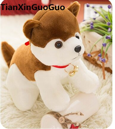cartoon husky plush toy lovely bell dog large 35cm soft doll throw pillow birthday gift b0777 cute cartoon ladybird plush toy doll soft throw pillow toy birthday gift h2813
