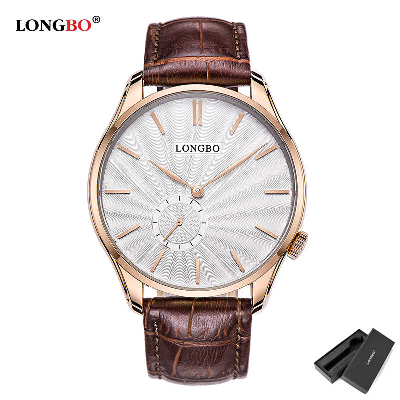 LongBo Couple Wristwatches Women Men Leather Strap Watches Lovers Girl Fashion Casual Ladies Quartz Luxury Brand Gold clocks
