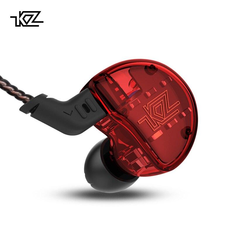 KZ ZS10 auriculares 10 conductor en auricular 4BA + 1DD dinámica armadura auriculares HiFi Bass auriculares de cancelación del ruido oído monitores híbrido