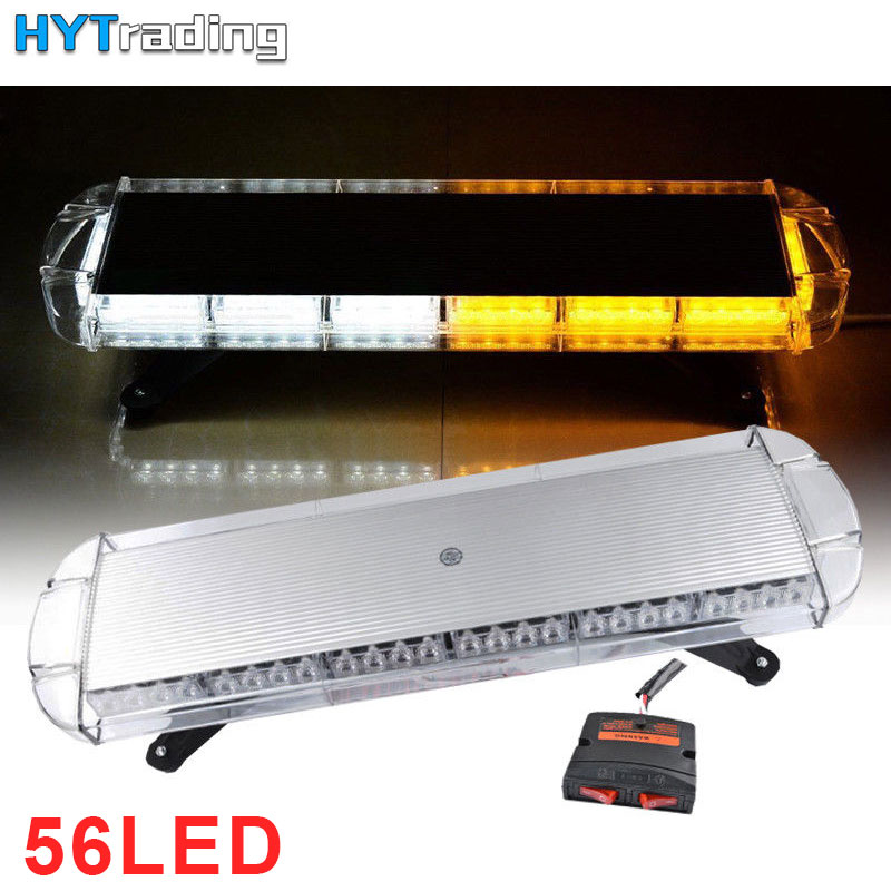 Car Lights Orderly 76cm Emergency Lights Universal Strobe Signal Integrity Led Light Bar,includes White Red Amber Traffic Advisor Light