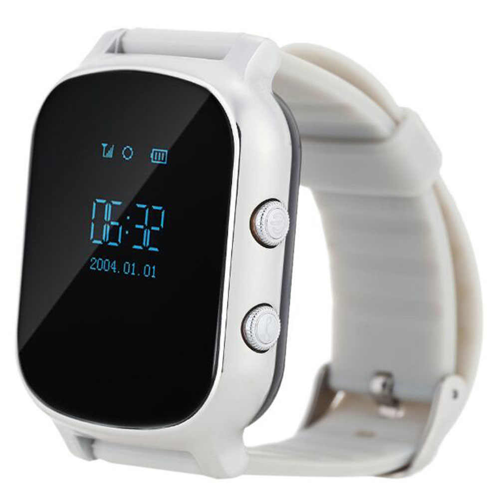 Smart GPS Tracker Watch T58 Kids GPRS Bracelet Google Map SOS Button AGPS GSM Wristband Personal Tracking Two Way Communication