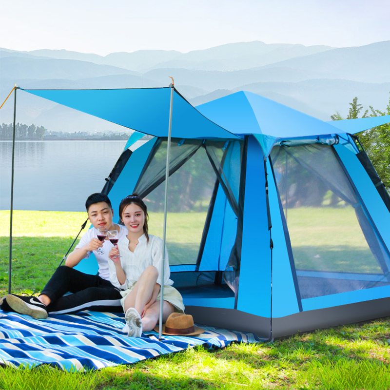 FLYTOP Ultralight Quick Automatic Opening Camping Tent Waterproof Outdoor Trekking Hiking Picnic Portable Family Beach Tent naturehike camping tent quick automatic opening washing toilet tent fishing restroom portable outdoor tent mobile bathroom