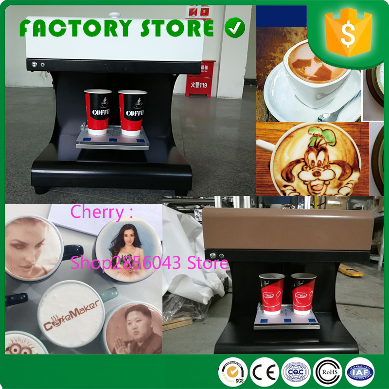 Easy Operation Let's Coffee Printer Machine Edible Food Macaron Printer 3d Coffee Printing Machine