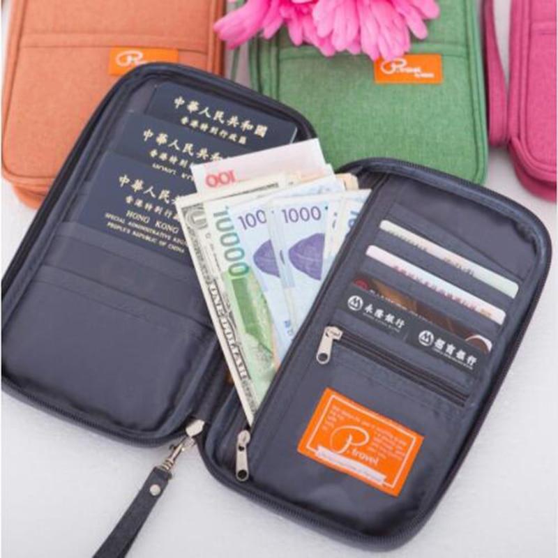 brand multi function men and women waterproof passport holder fashion travel multi pocket folder passport bag in Card ID Holders from Luggage Bags