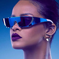 Luneta Femme Rihanna Estilo Óculos Polarizados Óculos de Sol Dos Homens Das Mulheres Designer De Marca Integrada Espelho Óculos de Sol Masculinos Do Sexo Feminino óculos de Sol