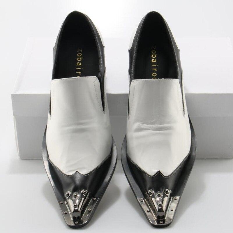 Dos Da as Ouro Sapatas Marca De Cravejado Picture Sapatos Picture Vestido Loafer Vestir Mens Couro Italiano Zobairou Branco As Listrado Luxo Homens qwTRS7nt