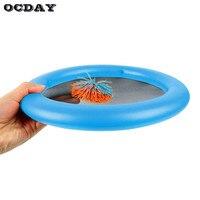 כדורי צעצוע פריזבי מנות OCDAY 2 יחידות 12 אינץ תכליתי ספורט כיף צעצוע משחק בין ההורה לילד אינטראקטיבי חיצוני מקורה מעופף דיסק