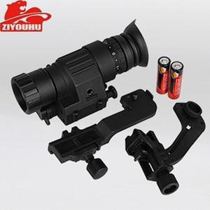 Image 3 - Tactical dispositivo de visão noturna infravermelha iluminação ir embutido caça riflescope monocular para fotografar, PVS 14 day night viewer