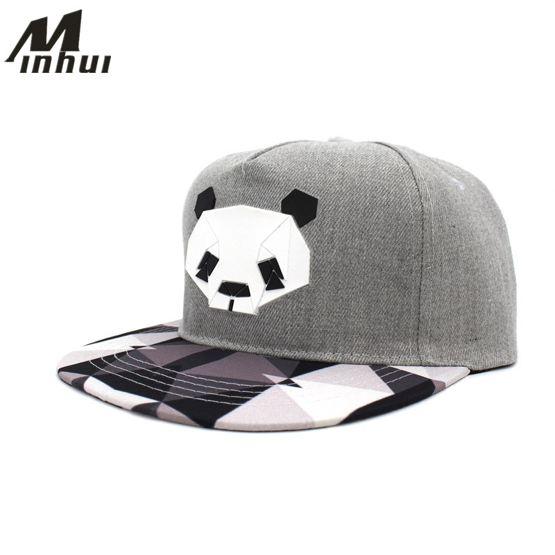 Minhui New Fashion Black White Plaid Mössor till män och kvinnor Hip Hop Cap Bone Gorras Snap Back Baseball Caps