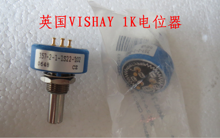 купить [VK] British original 1K potentiometer handle 22*6.3mm The mechanical Angle is a 300 degree single coil potentiometer switch недорого
