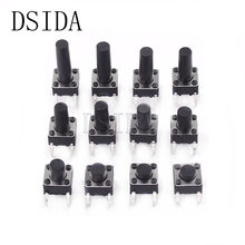 20pcs 6*6*4.3 mm Panel PCB Momentary Tactile Tact Push Button Micro Switch 4 Pin DIP Light Touch 6*6*4.3mm Keys Keyboard(China)