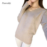 Spring New Fashion Womens Pullover Sweater 2015 Lady Women V Neck Long Sleeve Women S Cashmere