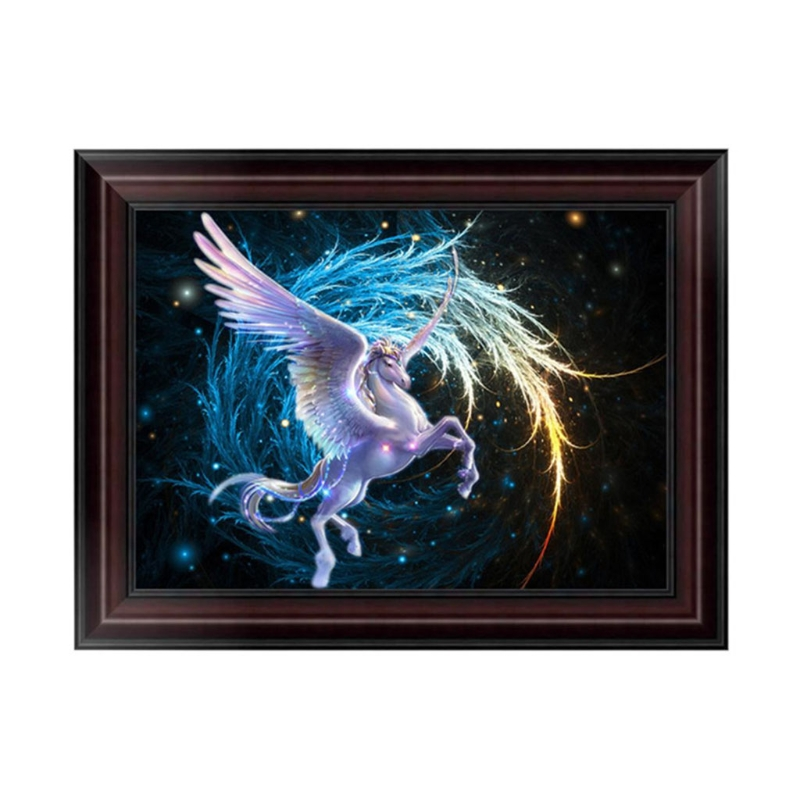 5D Diamond Embroidery Flying Horse Painting Cross Stitch DIY Craft Wall Decor