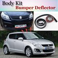 Bumper Lip Deflector Lips For Suzuki Swift Front Spoiler Skirt For TopGear Fans to Car View Tuning / Body Kit / Strip
