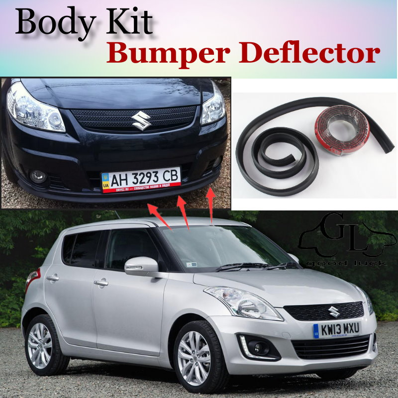 Bumper Lip Deflector Lips For <font><b>Suzuki</b></font> <font><b>Swift</b></font> Front Spoiler Skirt For TopGear Fans to Car View Tuning / Body Kit / Strip image