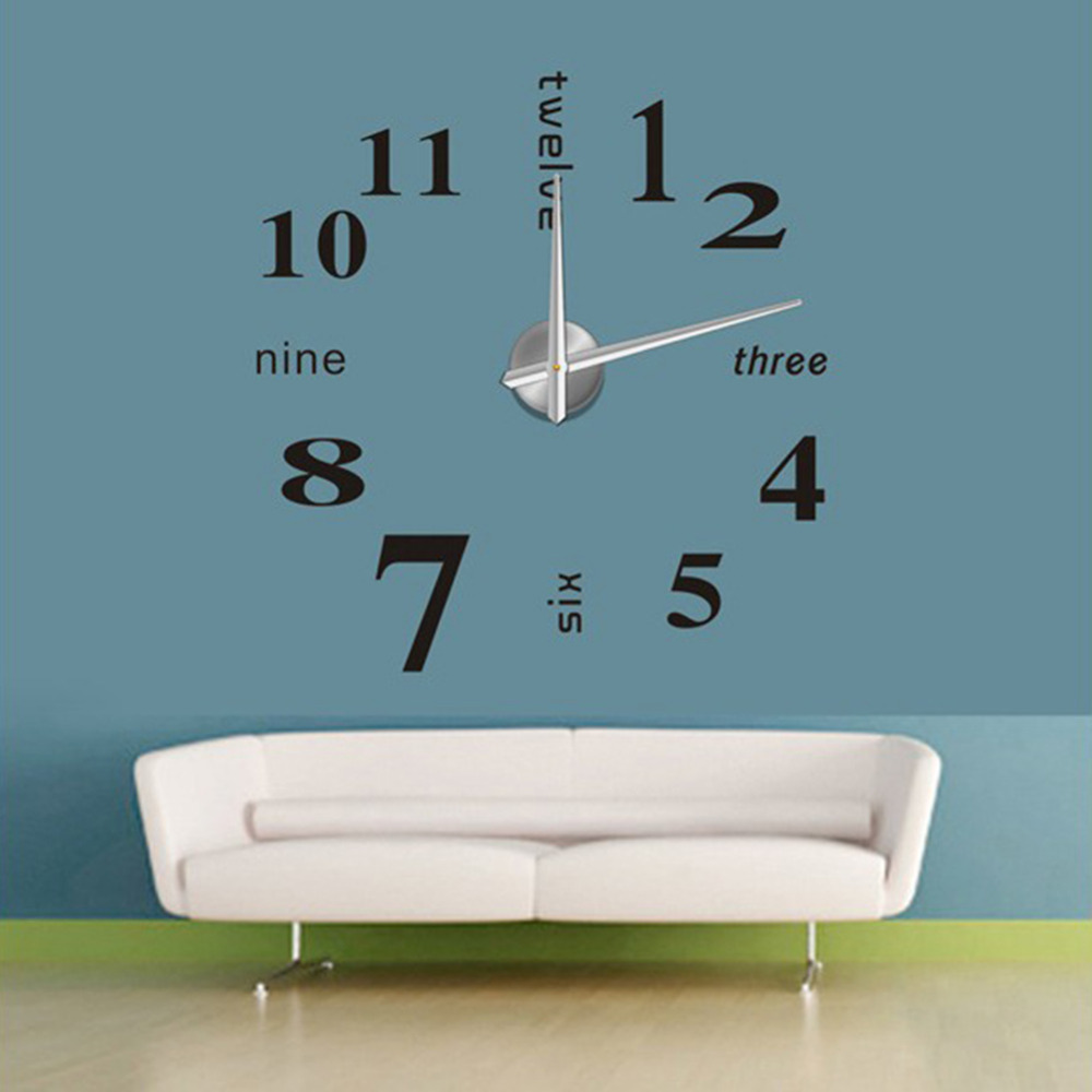 Wall clock stickers gallery home wall decoration ideas new diy home decor large quartz wall clock stickers living room new diy home decor large amipublicfo Choice Image