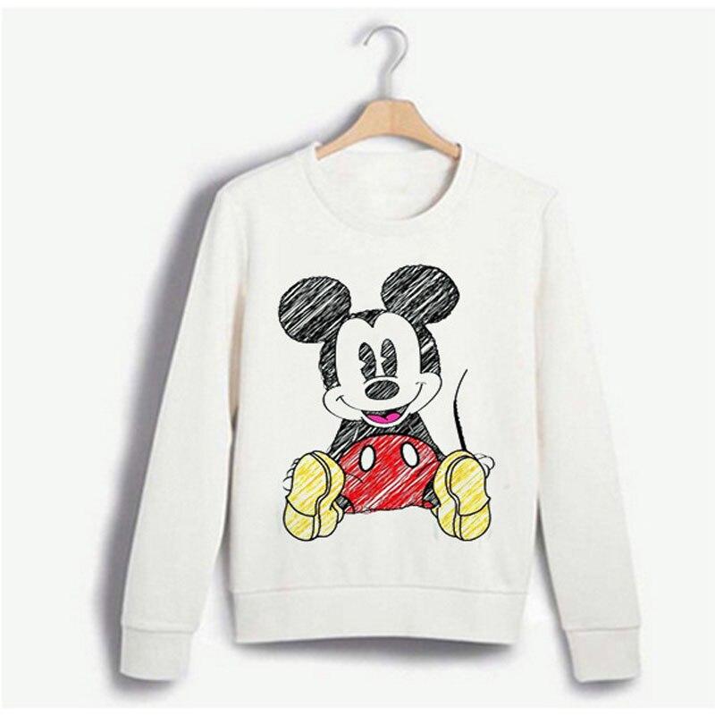 Womens Ladies Comic Cartoon Micky Finger Print Pullover Sweatshirt Jumper Top