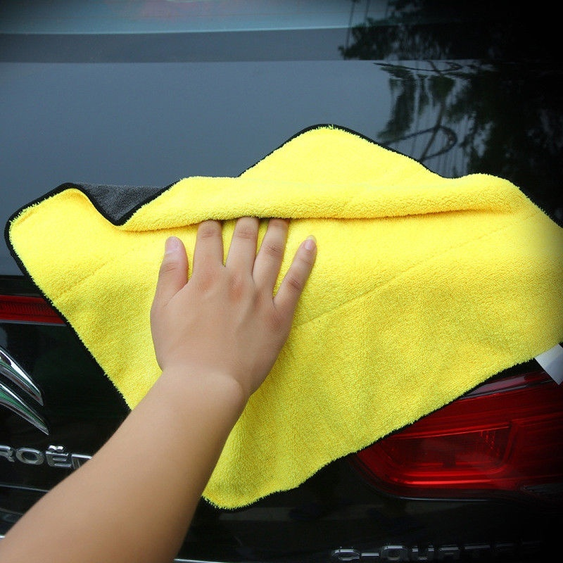 Image 5 - 2019 Size 30*30CM Car Wash Microfiber Towel Car Cleaning Drying Cloth Hemming Car Care Cloth Detailing Car Wash Towel For Toyota-in Cleaning Cloths from Home & Garden